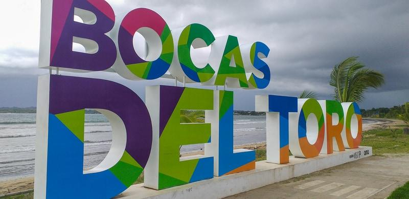 Bocas del Toro´s town name in big letters