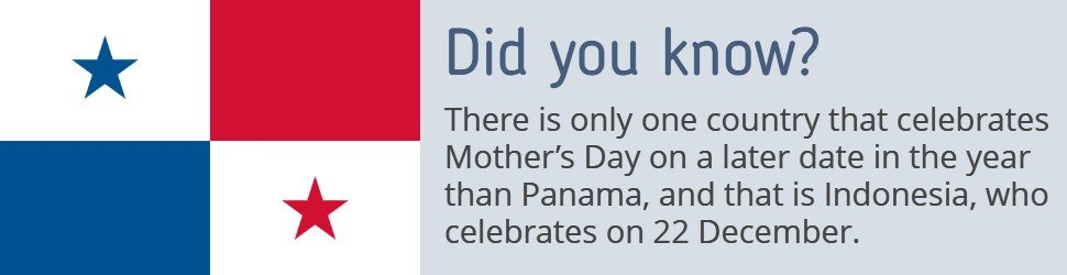 Panama Holidays - Mother's Day