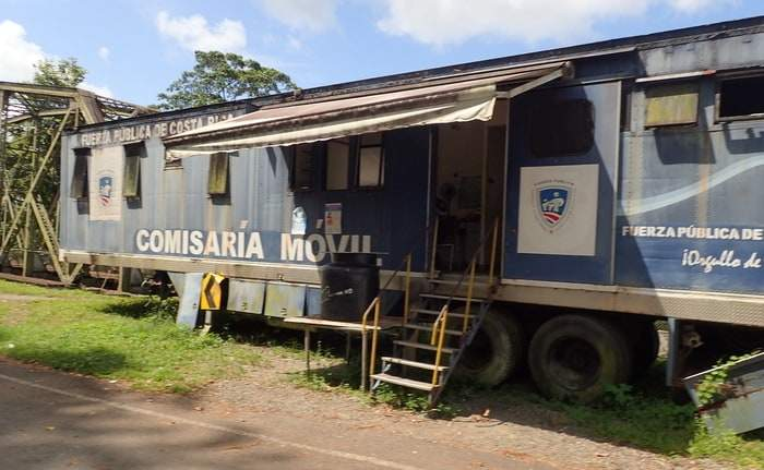 Costa Rica border control. This cute office is a 40ft shipping container that was converted into an office